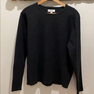Gray calibrate sweater with wool large